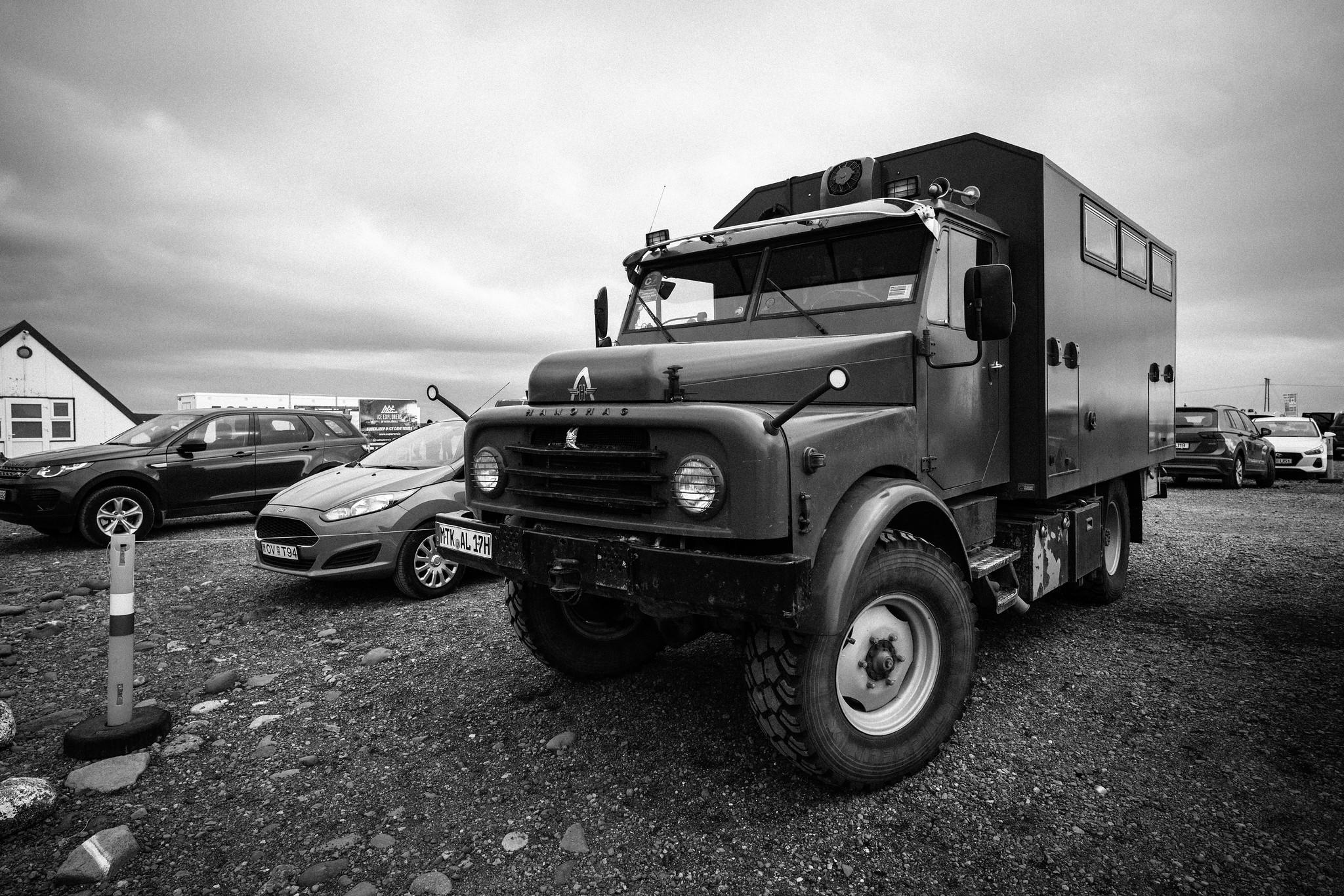 big ass adventure truck + our tiny rental car